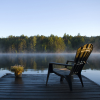 Lawn Chair on a Dock